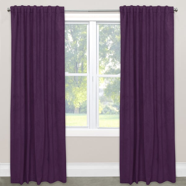 Skyline White/Red/Black/Grey/Navy/Purple Fabric/Polyester/Velvet Single Curtain Panel