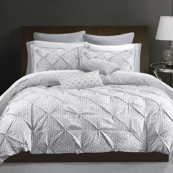 Echo Design DotKat Grey Cotton Sateen Printed Duvet Mini Set
