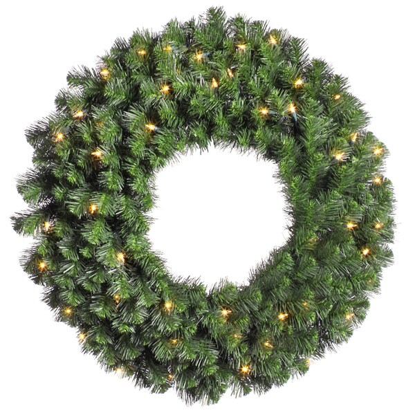 Vickerman 36-inch 320-tip Douglas Fir Wreath with 100 Clear Dura-Lit Lights