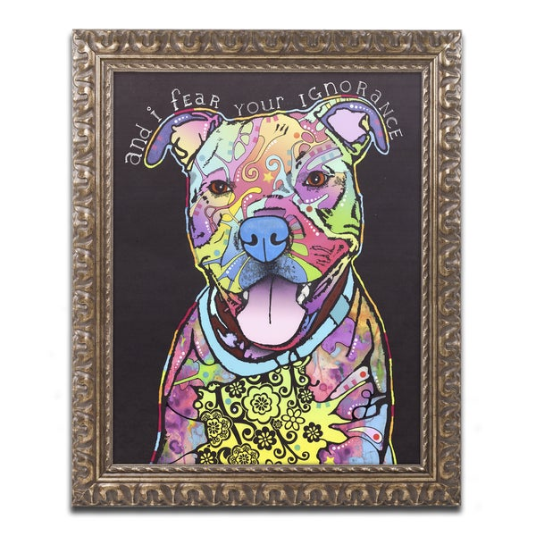 Dean Russo 'I Fear' Ornate Framed Art