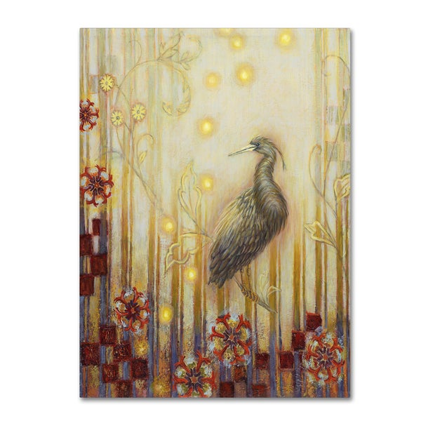 Rachel Paxton 'Wondrous Evening Heron' Canvas Art 21469955