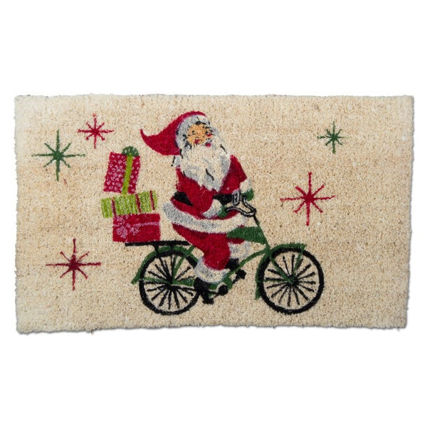 TAG Christmas Santa Cycle Coir Mat