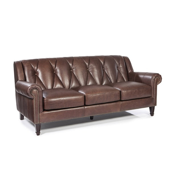 Lazzaro Leather Lucia French Beige Sofa