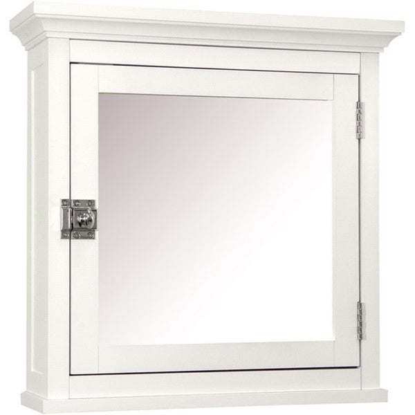 Classique 18-inch White Medicine Cabinet by Elegant Home Fashions (As Is Item)