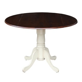 Round 36 Inch Pedestal Table With 12 Inch Leaf 16585235