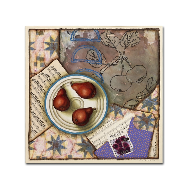 Rachel Paxton 'Red Pears and Music' Canvas Art