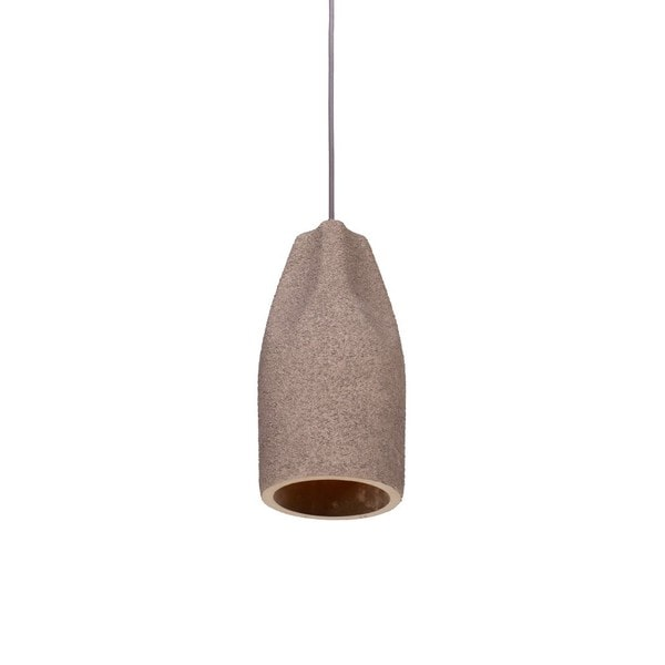Concrete Pendant Light With Bottle Shaped Shade