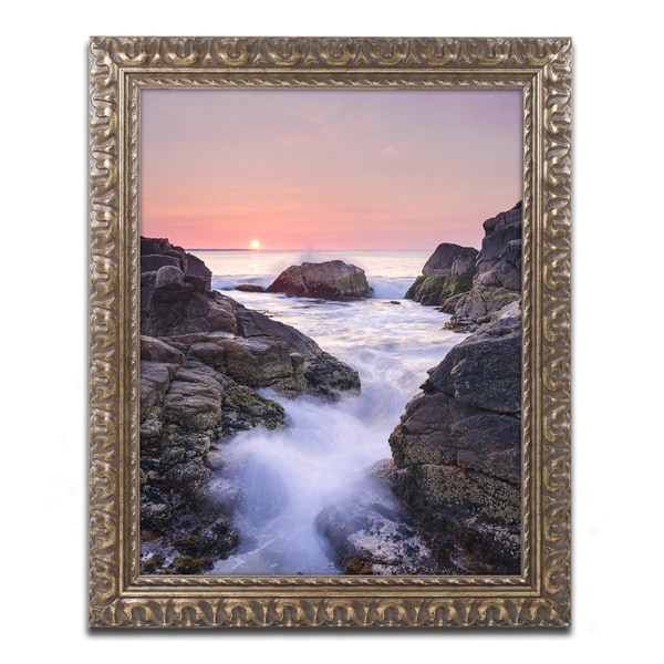 Michael Blanchette Photography 'Hazard Rocks' Ornate Framed Art