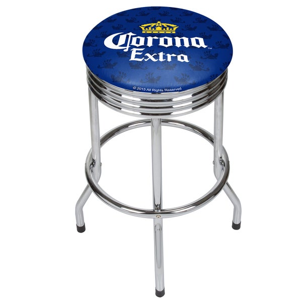 Corona Chrome Ribbed Bar Stool - Griffin 21475496