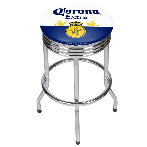 Corona Chrome Ribbed Bar Stool - Label 21475499