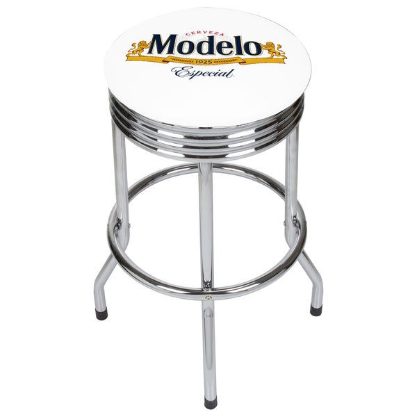 Modelo Chrome Ribbed Bar Stool 21475659