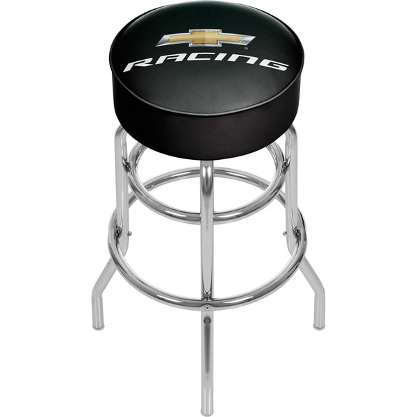 Chevrolet Padded Swivel Bar Stool - Racing