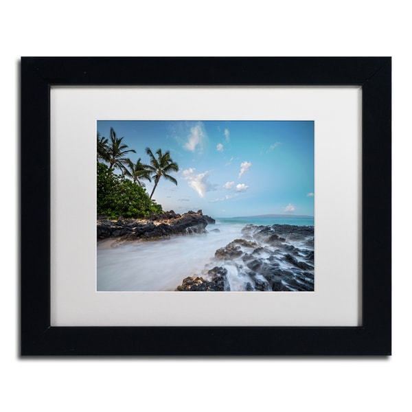 Pierre Leclerc 'Secret Cove Twilight' Matted Framed Art
