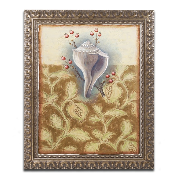 Rachel Paxton 'Salt Meadow Shell' Ornate Framed Art