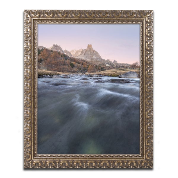 Mathieu Rivrin 'Waves of Mountain' Ornate Framed Art