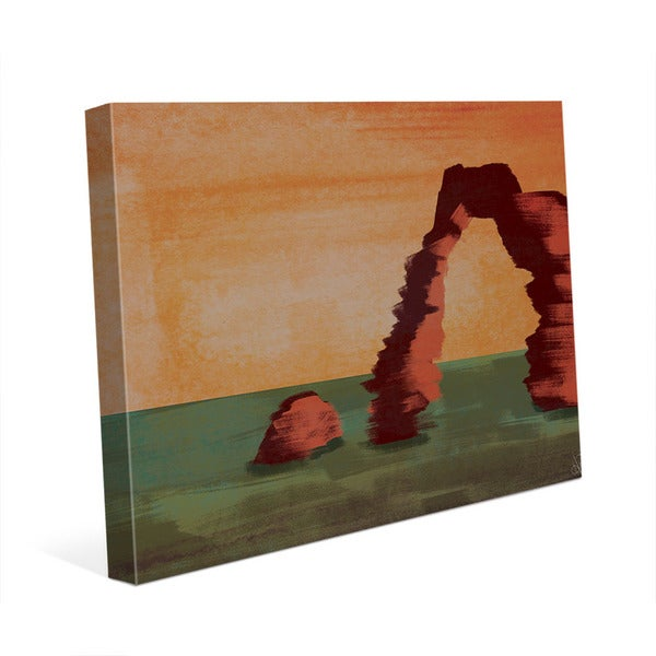 Sundown Archway Canvas Wall Art