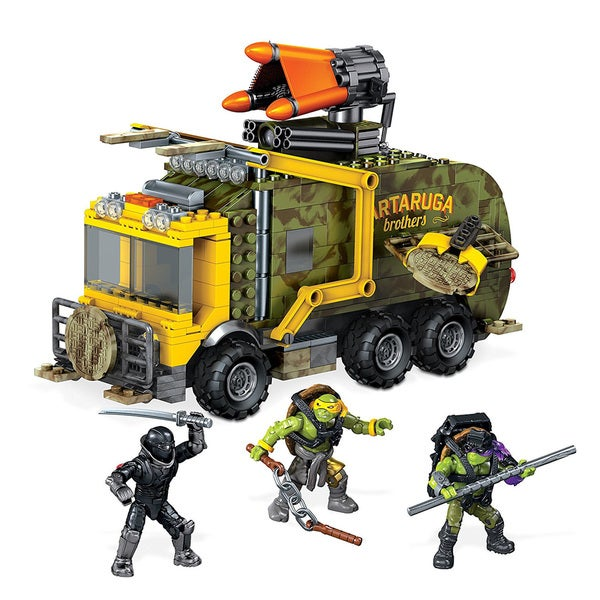Mega Bloks Teenange Mutant Ninja Turtles Battle Truck Construction Set