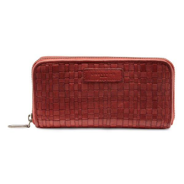 Liebeskind Anu Leather Woven Full-zip Continental Wallet