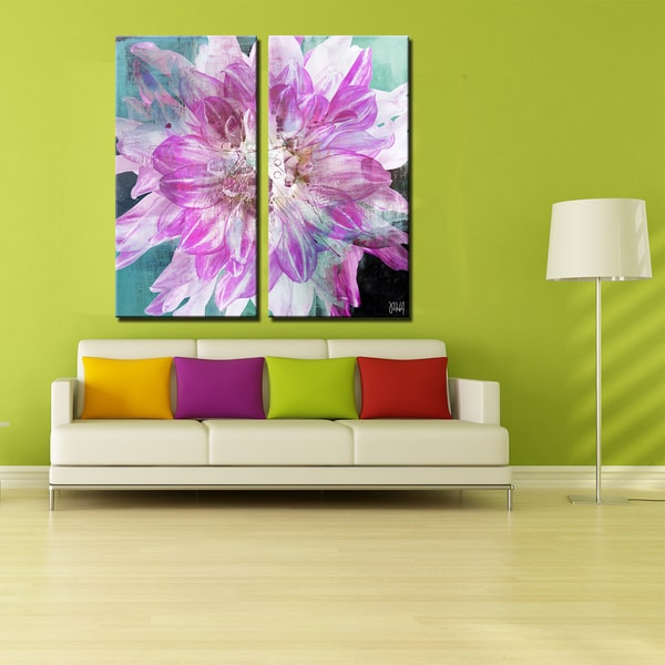 Ready2HangArt 2 Piece 'Painted Petals XXX' Canvas Art Set