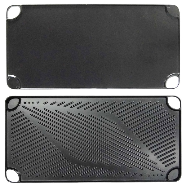 Black Aluminum Reversible Grill and Griddle Pan by KitchenWorthy