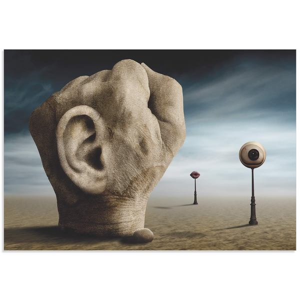 Ben Goossens 'Power of Communication' Surreal Figurative Art on Metal or Acrylic
