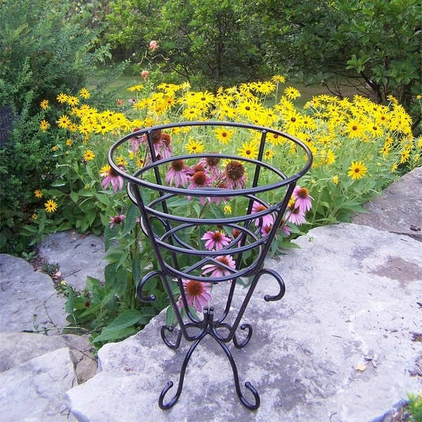 Oakland Living Corporation Entwined Cup Black Steel Plant Stand 21481009