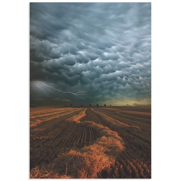 Franz Schumacher 'Mammatus Clouds' Storm Pictures on Metal or Acrylic