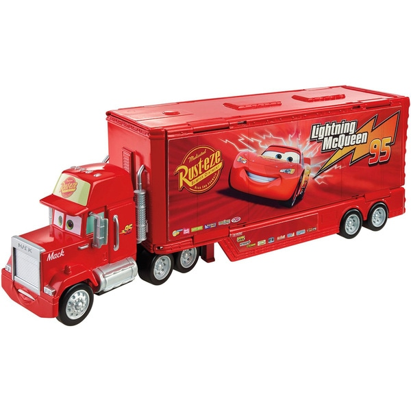 Mattel Disney/Pixar 'Cars' Wheel Mack Action Drivers Red Plastic Playset