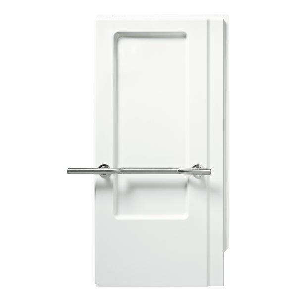 "Sterling 62065103-0 63"" White ADA Shower End Wall Set With Grab Bar"