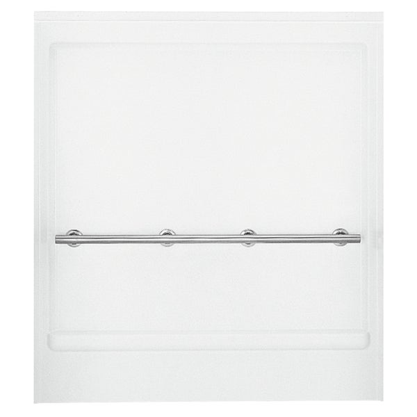"Sterling 62062103-0 63"" White ADA Shower Back Wall With Grab Bar"
