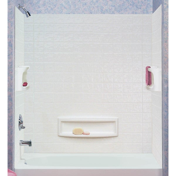ASB 39094-HD 3 Piece White Distinction Tub Wall