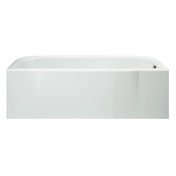 "Sterling 71141120-0 60"" X 30"" X 15"" White Accord Tile Bath Tub Right Hand"