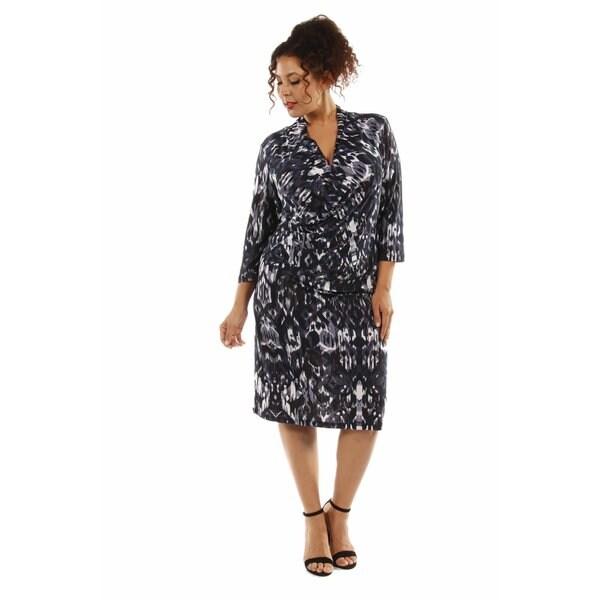 Fabulous Faux Wrap Plus Size Dress