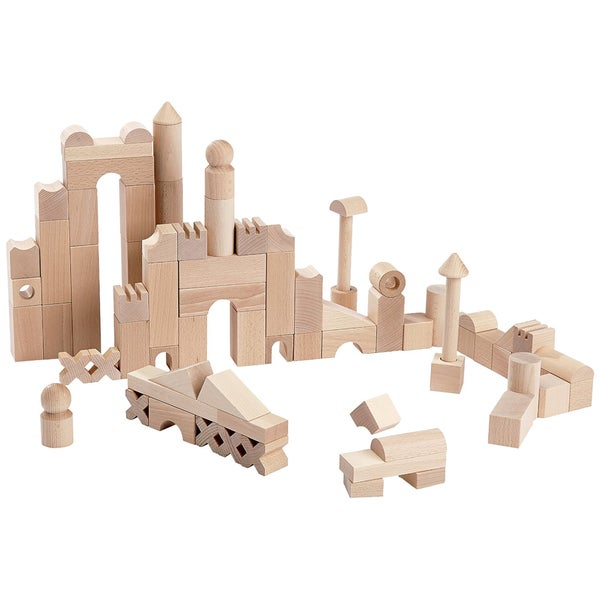 Haba Solid Beechwood Extra Large Building Blocks Starter Set