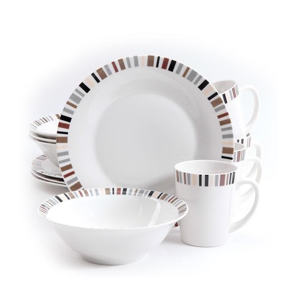 Gibson Lanvale Fine Ceramic 12-piece Dinnerware Set (Service for 4)