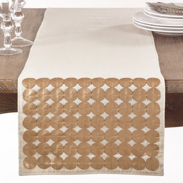Metallic Circle Design Table Runner