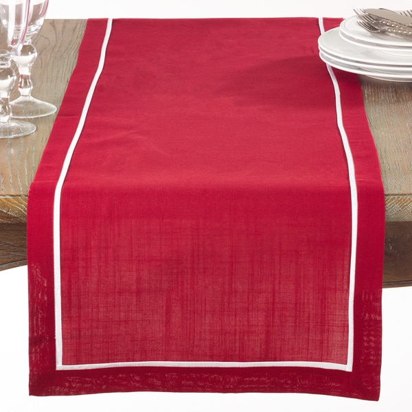 Red Pleated Table Runner