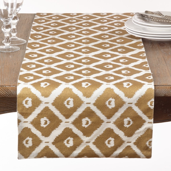 Metallic Ikat Print Runner