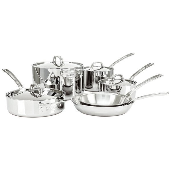 Viking 4513-2S10 Silver 3-ply Cookware Set (Pack of 10)