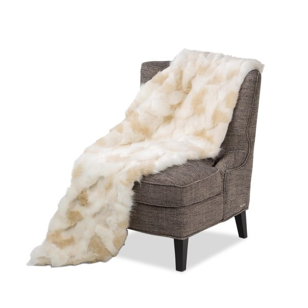 Michael Amini Brook Faux Fur Throw