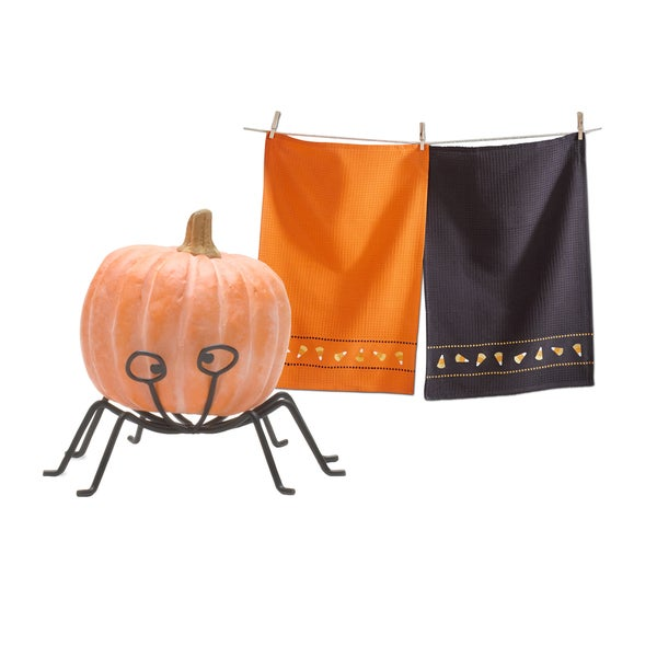 TAG Halloween Dishtowel and Pumpkin Stand Set (1 each) 21499283