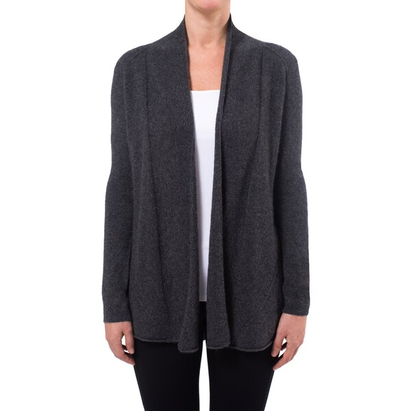Premise Cashmere Women's Pointelle-stitch Cashmere Cardigan