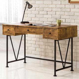 Mid Century Industrial Design Home Office Computer Writing Desk with Drawers