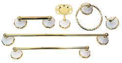 Moen Rivera Polished Brass 6-piece Bath Accessory Kit