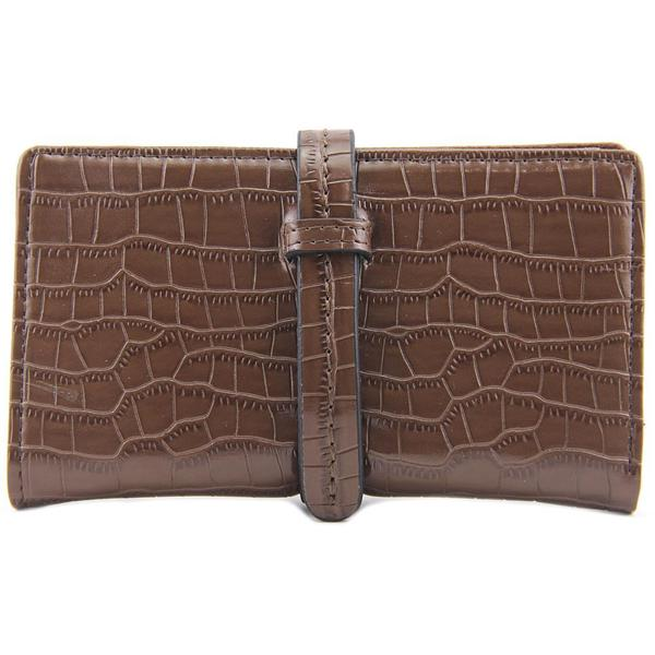 Scarleton Women's 'Small Croc Embossed Drawstring Wallet' Brown Faux Leather Handbag