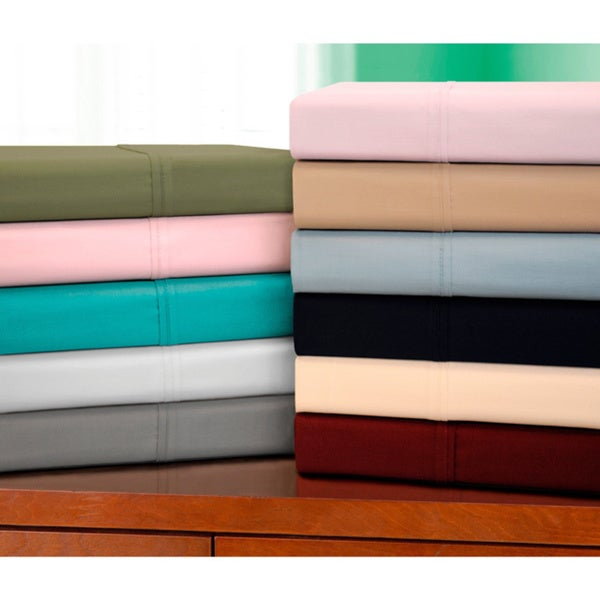 Superior 400 Thread Count Cotton Solid Sheet Set King Size in White(As Is Item)