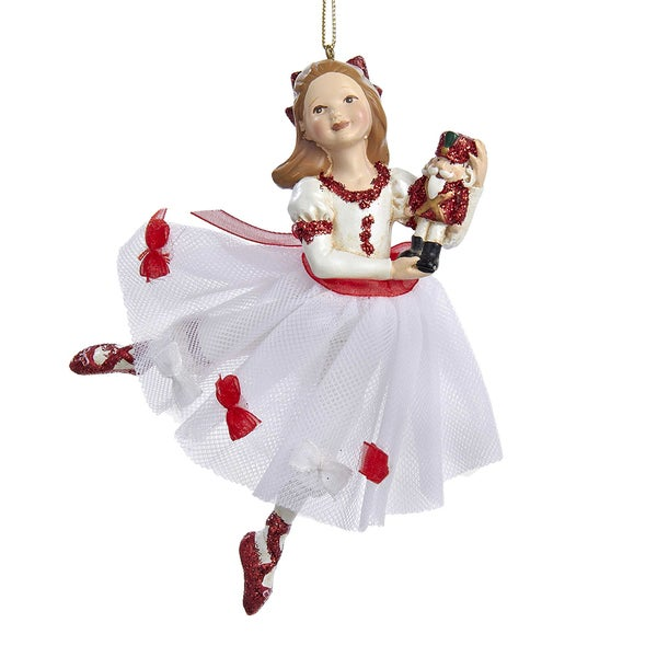 Kurt Adler 5.5-Inch Resin Clara Nutcracker Suite Ornament