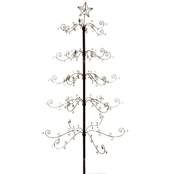 Kurt Adler 7-Foot Black Satin Metal Tree