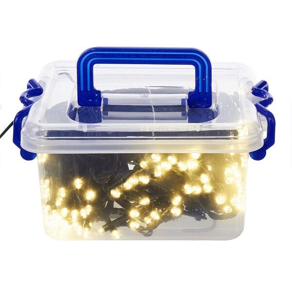 Kurt Adler UL 100-Light Warm White LED Light Set in Tool Box