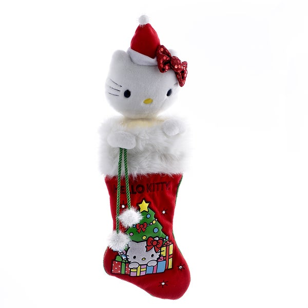 Kurt Adler Hello Kitty Plush Head Stocking